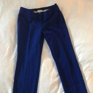 LOFT Marisa Cobalt Blue Cropped Work Pants